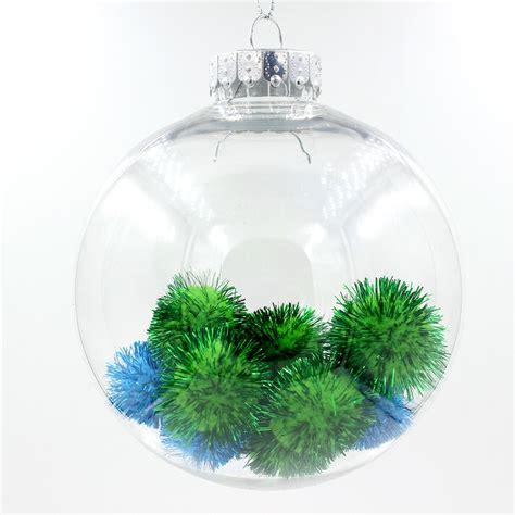clear transparent plastic ball christmas ornaments