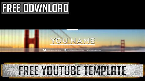 free youtube banner template photoshop cs6 youtube