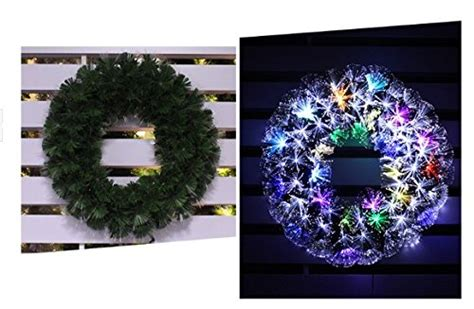 fiber optic christmas wreath fiber optic wreath hip hoo
