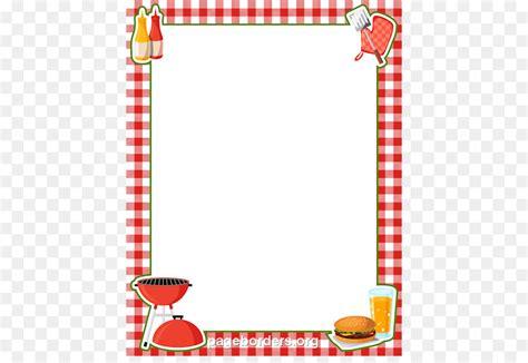 Barbecue Hot dog Picnic Clip art - BBQ Border Cliparts png ... Bbq Border Clip Art Free