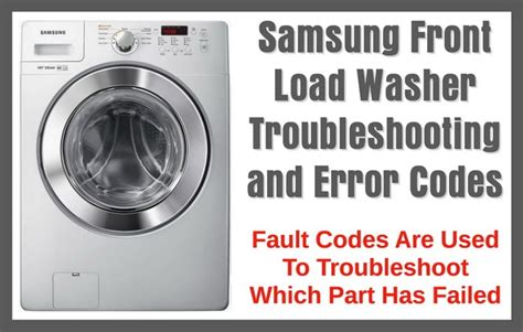 Samsung Dryer Troubleshooting by Removeandreplace Samsung Front Load Washer