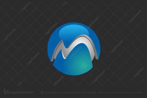 3d Globe M Logo M 3d Logo