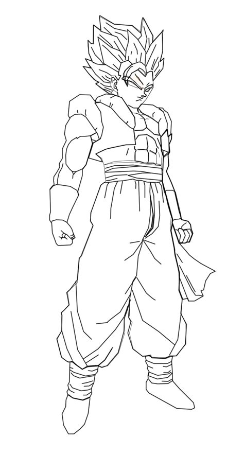 gogeta ss2 free coloring pages