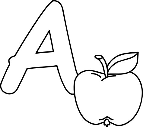coloring page a is for apple a is for apple buchstaben coloring page wecoloringpage