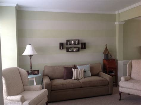 Striped Accent Wall Living Room My Subtle Striped Accent Wall In Living Room Decor