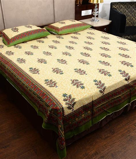 pillow covers and bed sheets shop jaipuri rajasthani printed cotton bed sheet with 2