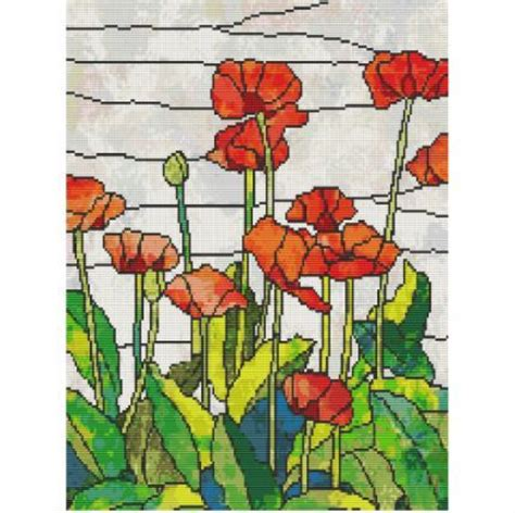 the glass bead pdf poppies in stained glass is a tapestry bead pattern