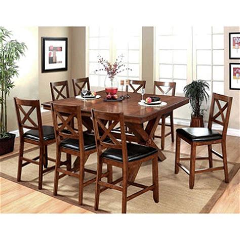 9pc Dining Room Set charleston counter height dining table and chairs 9 piece