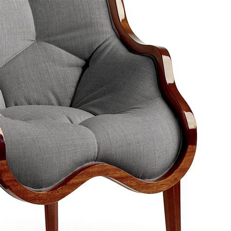 poltrona tessuto poltrona in tessuto e legno massello di design made in