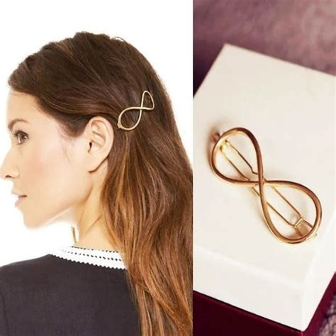 Infinity Hair Store 523 Boutique Gold Infinity Hair Barrettes Pair