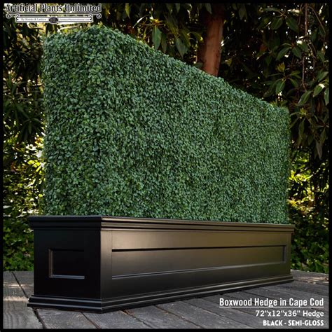 Hedge In Planter Boxes by Custom Artificial Hedges In Planters