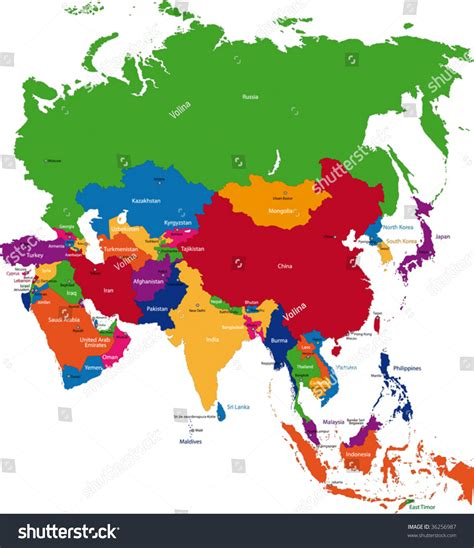 printable map of asia with countries and capitals map of asia countries and capitals my