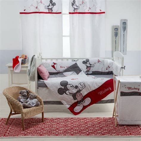 Magical Mickey Mouse Nursery Adorable Bedding And Decor Mickey Mouse Crib Bedding
