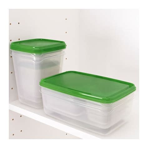 ikea plastic bins pruta food container set of 17 transparent green ikea