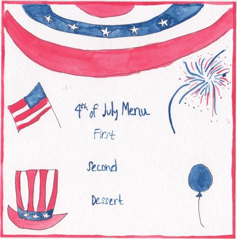 4th of july menu template chefanie nass how to throw a cracking fourth of