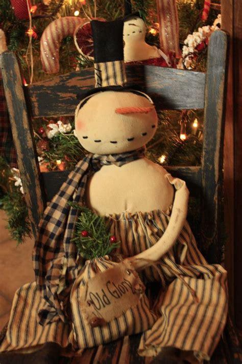 primitive americana snowman epattern