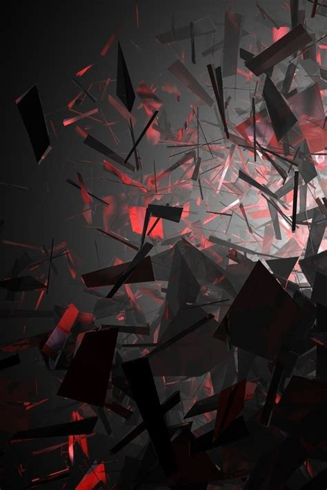 abstract black  red shapes wallpaper allwallpaperin