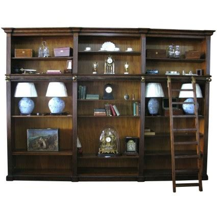 library bookcases with ladder european design regency library bookcase with ladder