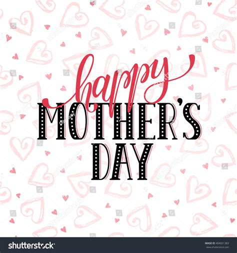 template day card mothers day greeting card template happy stock vector