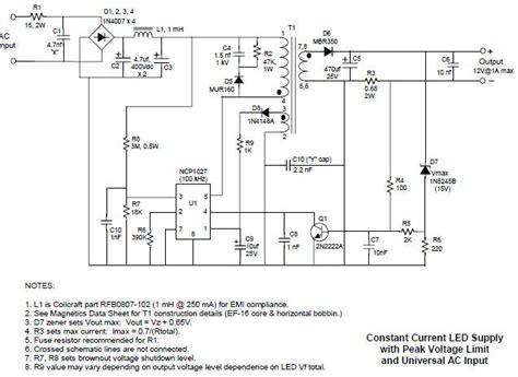 power led driver circuit diagram constant current led driver circuit diagram