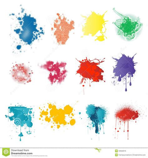 paint splatters royalty free stock images image 34550519