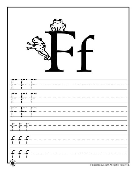 printable alphabet test for kindergarten learning abc s worksheets learn letter f classroom jr