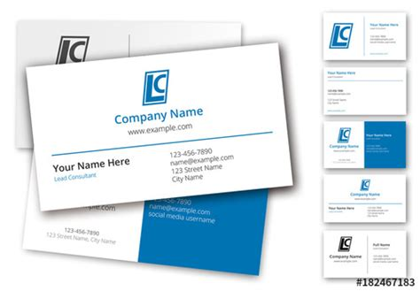 Business Card Template Adobe Stock by 6 Layout Business Card Set Buy This Stock Template And