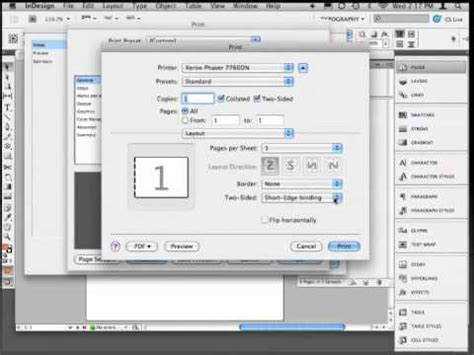 how to print to booklet in indesign book design doovi print booklet from indesign youtube