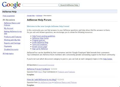 adsense forum inside adsense you re invited to the new adsense help forum