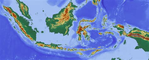 find digital topographic maps  indonesia