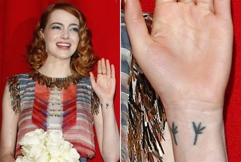 emma stone tattoo s flying blackbird the 50 most stylish