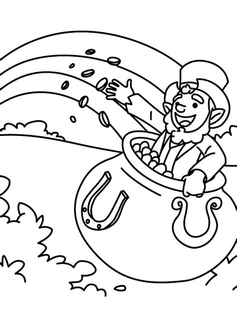 leprechaun coloring page leprechaun pot of gold coloring pages