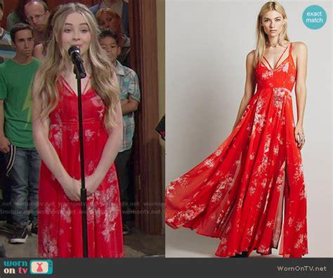 Longdress Maxi Sabrina wornontv maya s floral maxi dress on meets world