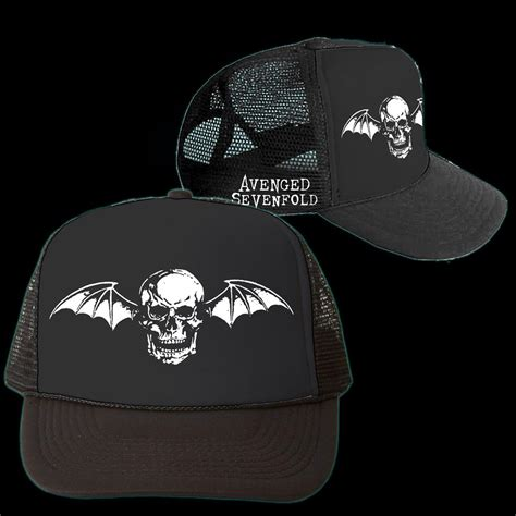 Avenged Sevenfold Deathbat avenged sevenfold deathbat trucker hat