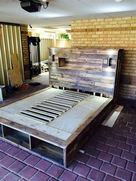 pallet bed plans recycled wood pallet bed ideas pallet wood projects