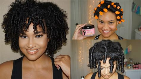 natural hair tutorial making your roller set youtube perm rod set tutorial on natural hair easy soft curls