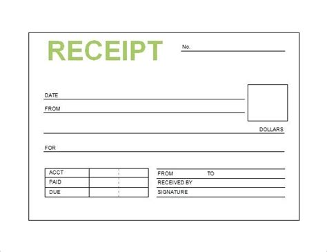 template for receipt of goods 28 images delivery