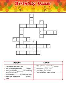 birthday crossword puzzles to print activity shelter