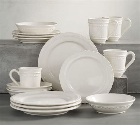 pottery barn china napoli 16 piece dinnerware set pottery barn