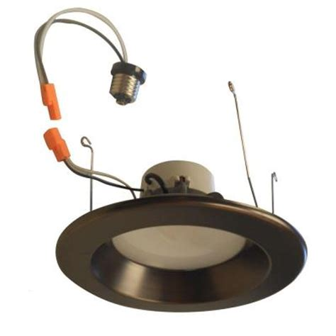 commercial electric 6 in bronze recessed led gimbal trim