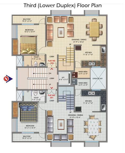 Jairam Apartment Shankar Nagar Nagpur Luxury 2 Bhk Plans For Duplex Flats