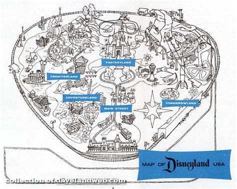 world of color schedule 1961 disneyland map
