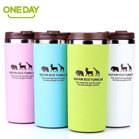 Gratis Ongkir Colourful Thermos Insulated Mik Water coffee mug cup stainless steel thermo cup coffee tea mug milk water bottle drinkware giraffe