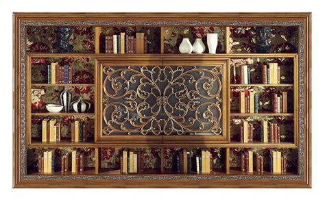 librerie porta tv libreria classica con porta tv idfdesign