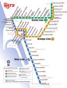 San Diego Trolley Map by San Diego Trolley