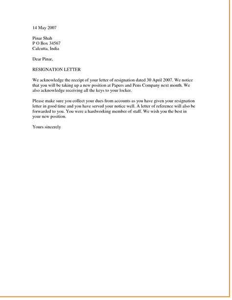 resignation letter perfect format letter of resignation