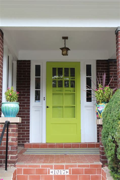 Green Glass Door Exles Fabulously Painted Front Doors Dig This Design