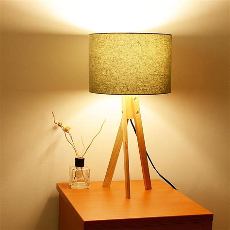 bedroom light stand modern tripod table desk floor lamp wood wooden stand home 10527 | 11dsl001 tri09 wod 07