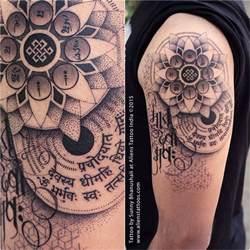 dotwork mandala tattoo by sunny bhanushali at aliens