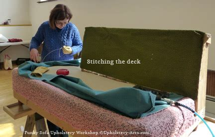 upholstery classes online funky 50 s sofa upholstery workshop stitching the deck